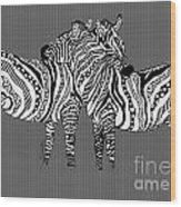 Zebra Love 26 Wood Print