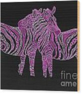 Zebra Love 7 Wood Print