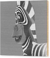 Zebra O Wood Print