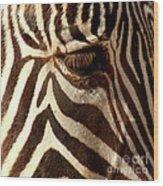 Zebra Patterns Wood Print