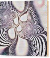 Zebra Phantasm Wood Print