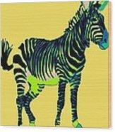 Zebra Pop Art Wood Print