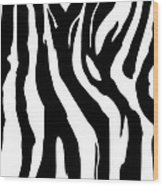 Zebra Print 001 Wood Print by Kenneth Feliciano