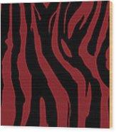 Zebra Print 002 Wood Print by Kenneth Feliciano