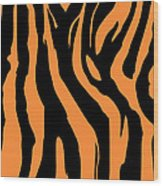 Zebra Print 004 Wood Print by Kenneth Feliciano