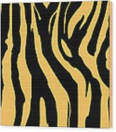Zebra Print 005 Wood Print by Kenneth Feliciano