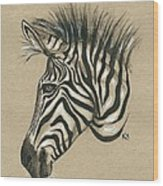 Zebra Profile Wood Print