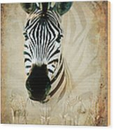 Zebra Profile Wood Print