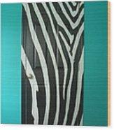 Zebra Stripe Mural - Door Number 1 Wood Print