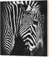 Zebra Strips Wood Print