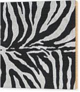 Zebra Textile Background Wood Print