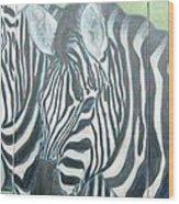 Zebra Triptych General Wood Print