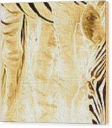 Zebra Up Closer Wood Print