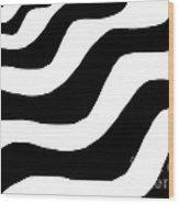 Zebra Waves Wood Print