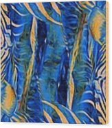 Zebras Abstracted Wood Print