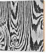 Zebras In Wood Wood Print