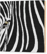 Zebressence Wood Print
