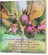 Zechariah 4 10 Wood Print