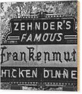 Zehnder's Black And White Wood Print