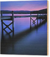 Zen At Lake Waramaug Wood Print