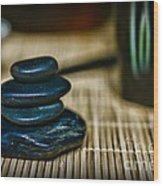 Zen Balance Is Key Wood Print