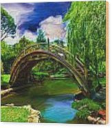 Zen Bridge Wood Print