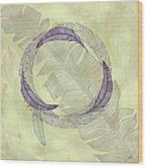 Zen Feather Circle I I I Wood Print