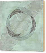 Zen Feather Circle I I Wood Print