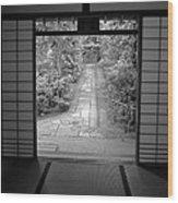 Zen Garden Walkway Wood Print
