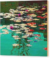 Zen Garden Water Lilies Pond Serenity And Beauty Lily Pads At The Lake Waterscene Art Carole Spandau Wood Print