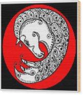Zen Horse White Wood Print