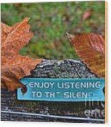 Zen Inner Peace Wood Print