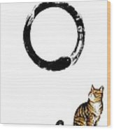 Zen Kitty Wood Print