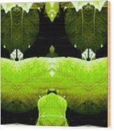Zen Leaves 2 Wood Print