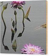 Zen Lilies Wood Print