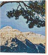 Zen Mountain Wood Print