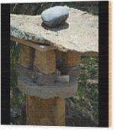 Zen Rocks In Balance Wood Print