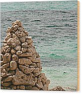 Zen Rocks In Paradise Wood Print