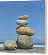 Zen Stones I Wood Print