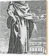 Zeno Of Citium, Ancient Greek Wood Print