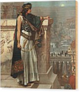 Zenobia's Last Look On Palmyra Wood Print