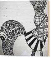 Zentangle Bird Wood Print