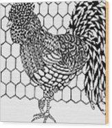 Zentangle Rooster Wood Print