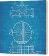 Zeppelin Navigable Balloon Patent Art 2 1899 Blueprint Wood Print