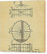 Zeppelin Navigable Balloon Patent Art 2 1899 Wood Print