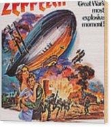 Zeppelin, Us Poster Art, Front Wood Print