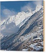 Zermatt Mountains Wood Print by Brian Jannsen