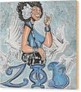 Zeta Phi Beta Sorority Inc Wood Print by Tu-Kwon Thomas