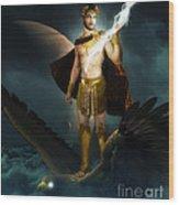 Zeus King Of The Gods Wood Print by Pixl Vixl