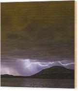 Zeus' Wrath Wood Print